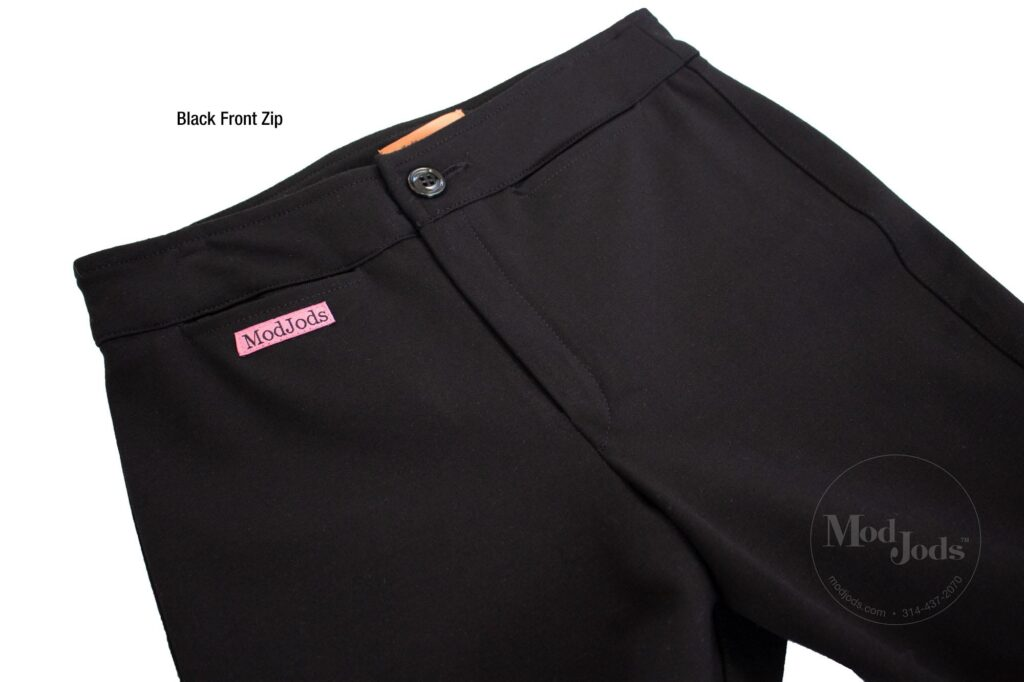 Black Front Zip