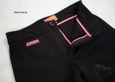 Black Front Zip Open