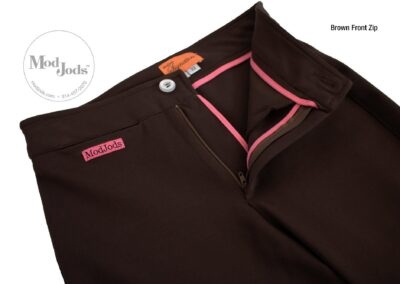 Brown Front Zip Open