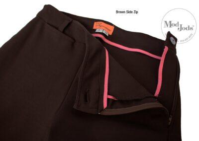 Brown Side Zip Open