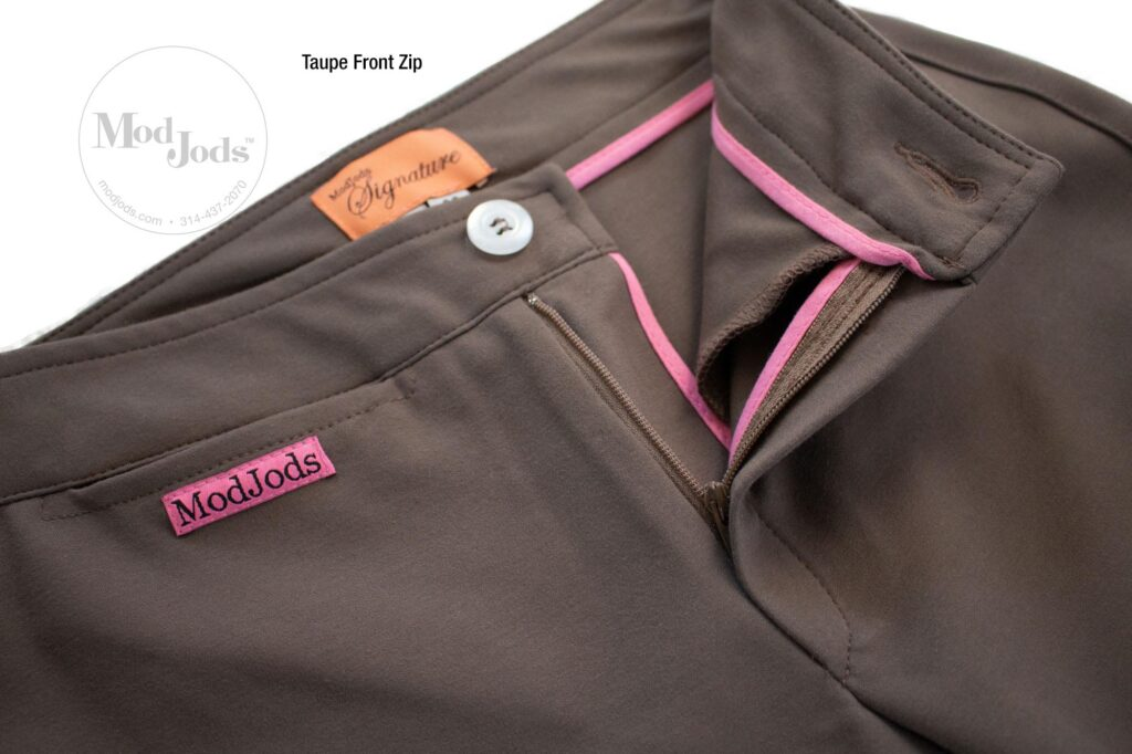 Taupe Front Zip Open