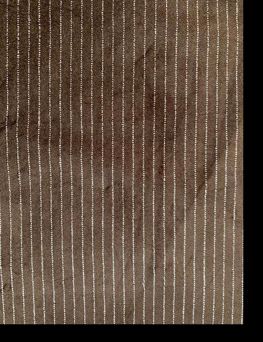Brown Velvet Pink Pinstripe Corduroy